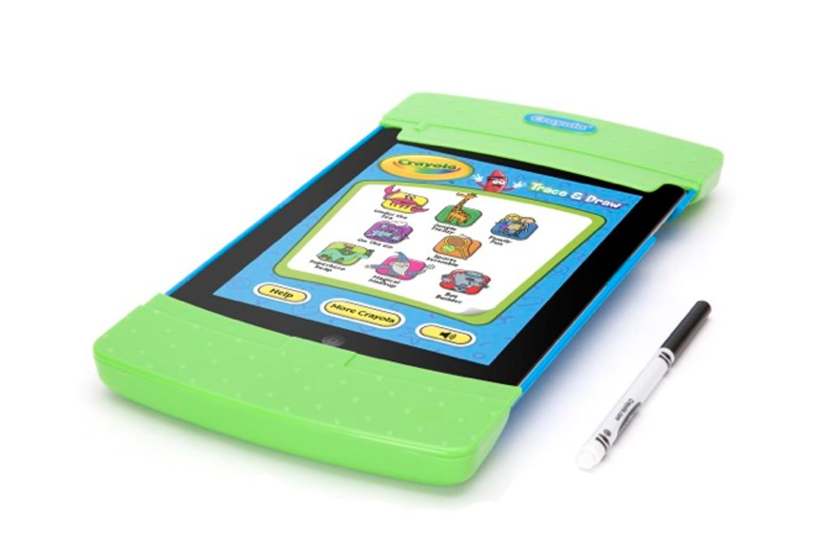 Crayola Trace & Draw allows users to slide a piece of paper over their iPad's screen, so their kids can play drawing and coloring games via a free app
