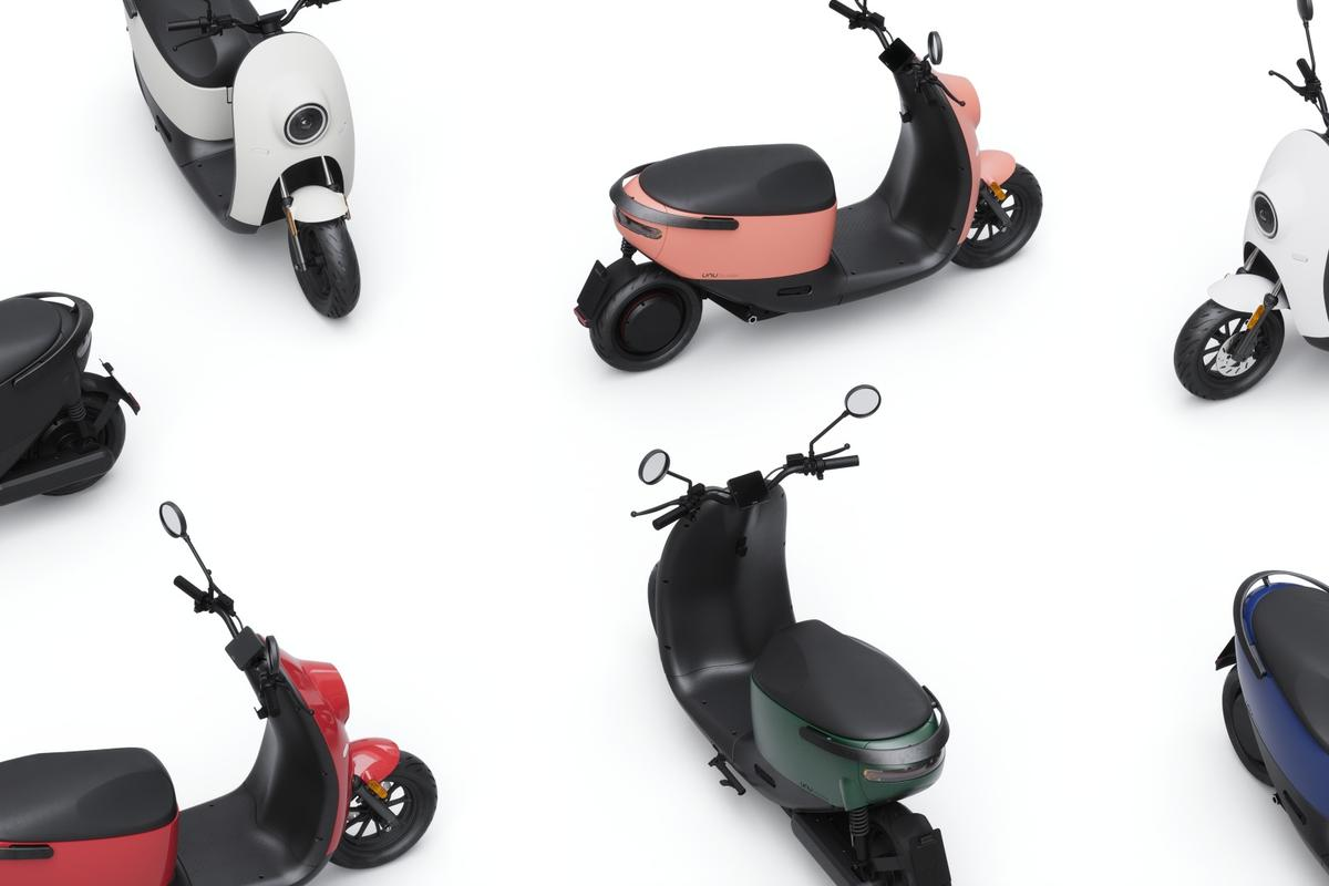 The unu Scooter is available as three models with seven color options