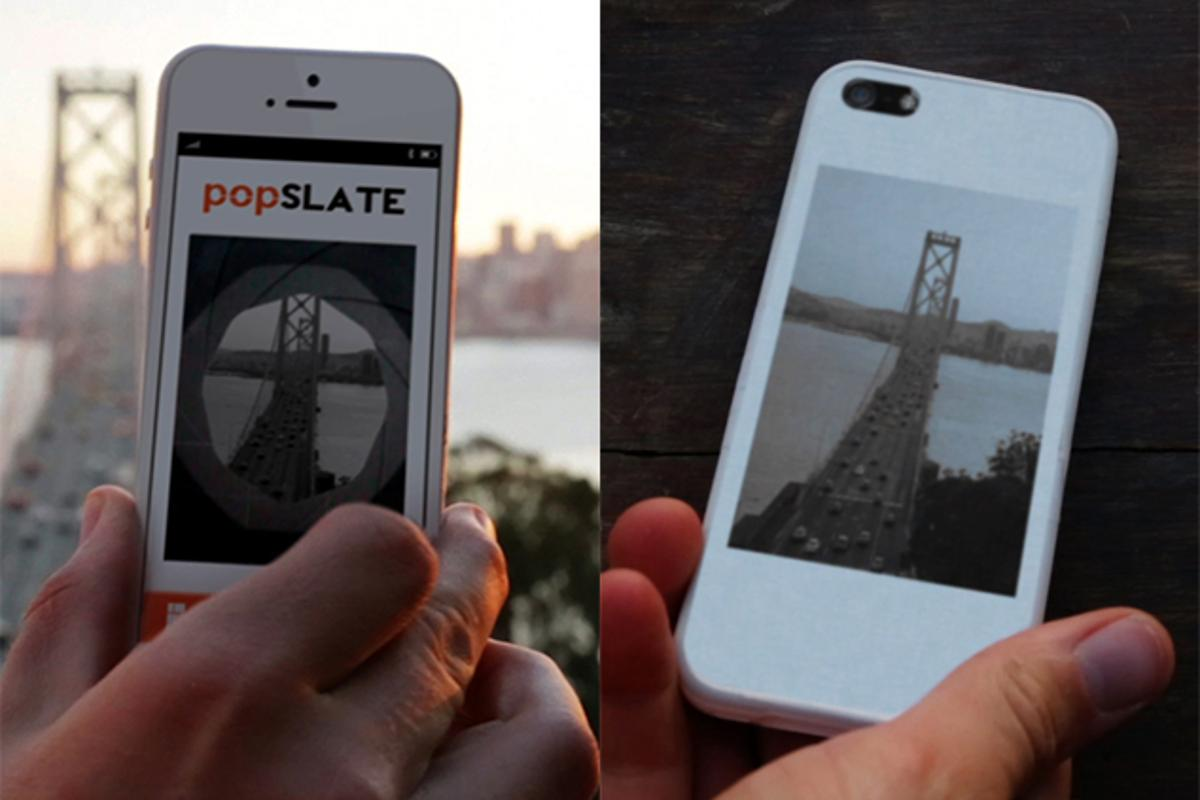 The popSLATE puts a customizable 4-inch E-Ink display on the back of your iPhone 5