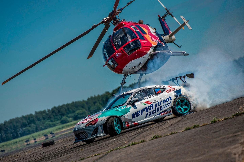 "Felix Baumgartner recently took part in a ""heli-drifting"" stunt"