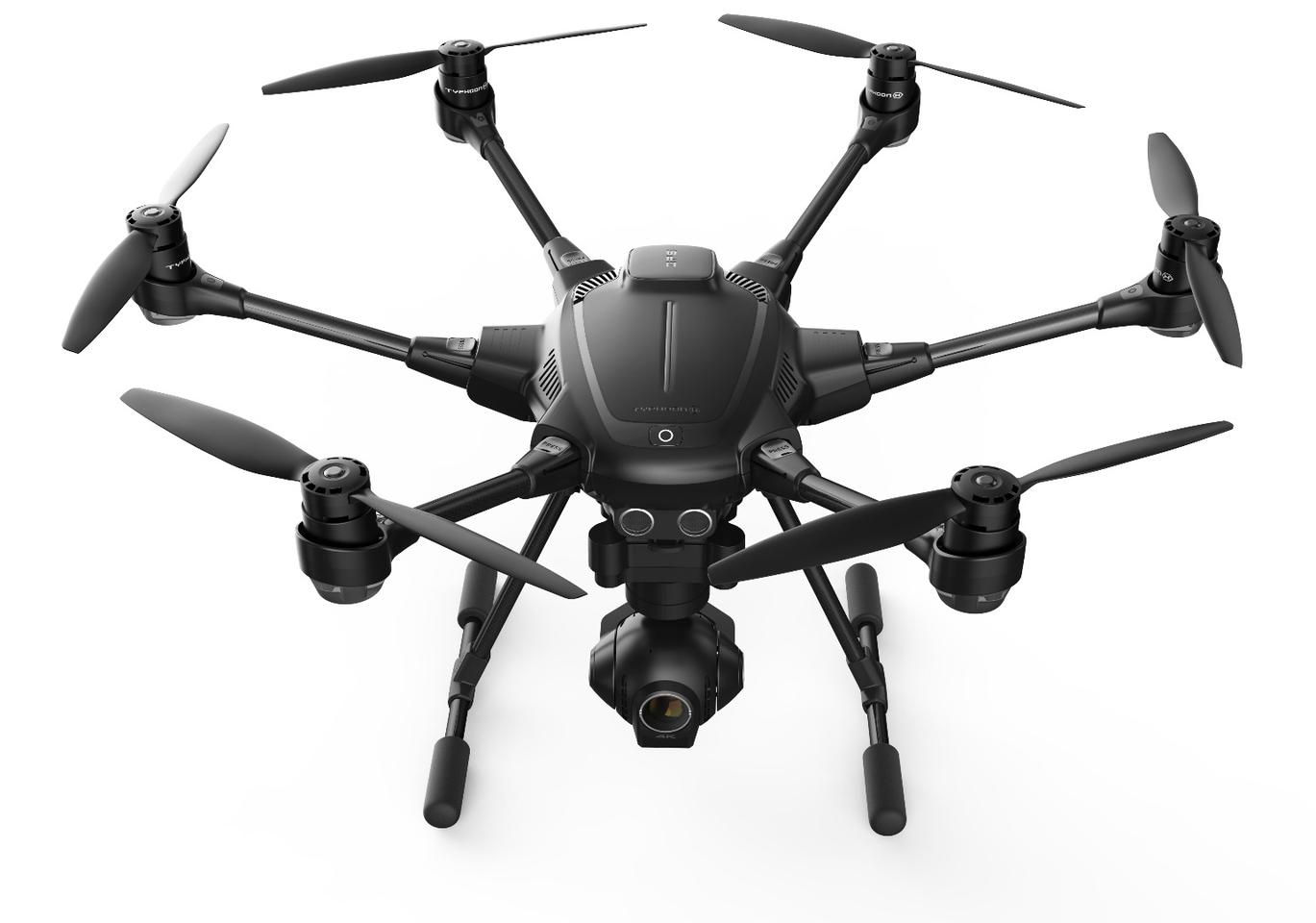 The Typhoon H has composite carbon construction