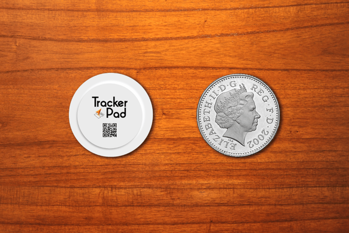 TrackerPad GPS stickers keep tabs on your belongings
