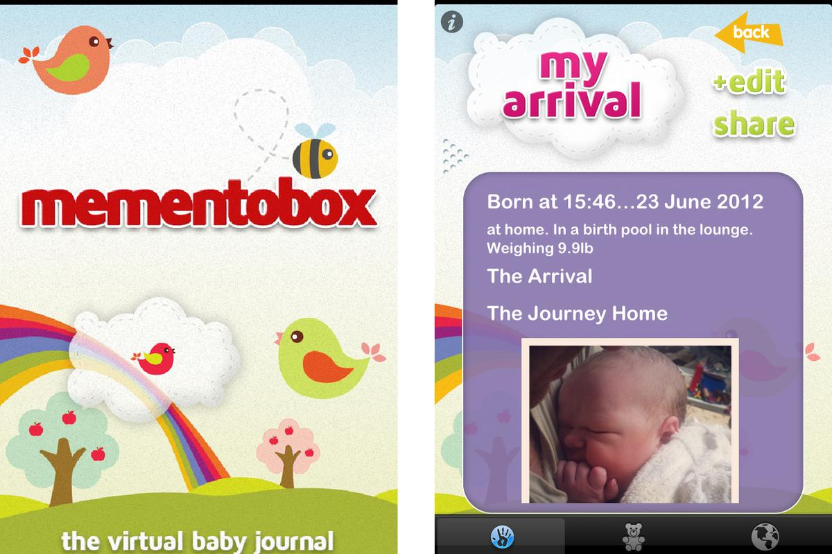 The Mementobox app itself is divided into three sections, My arrival, My first year and My world