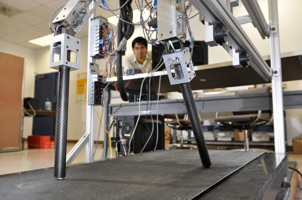AMBER 2 demonstrating bipedal locomotion on a treadmill