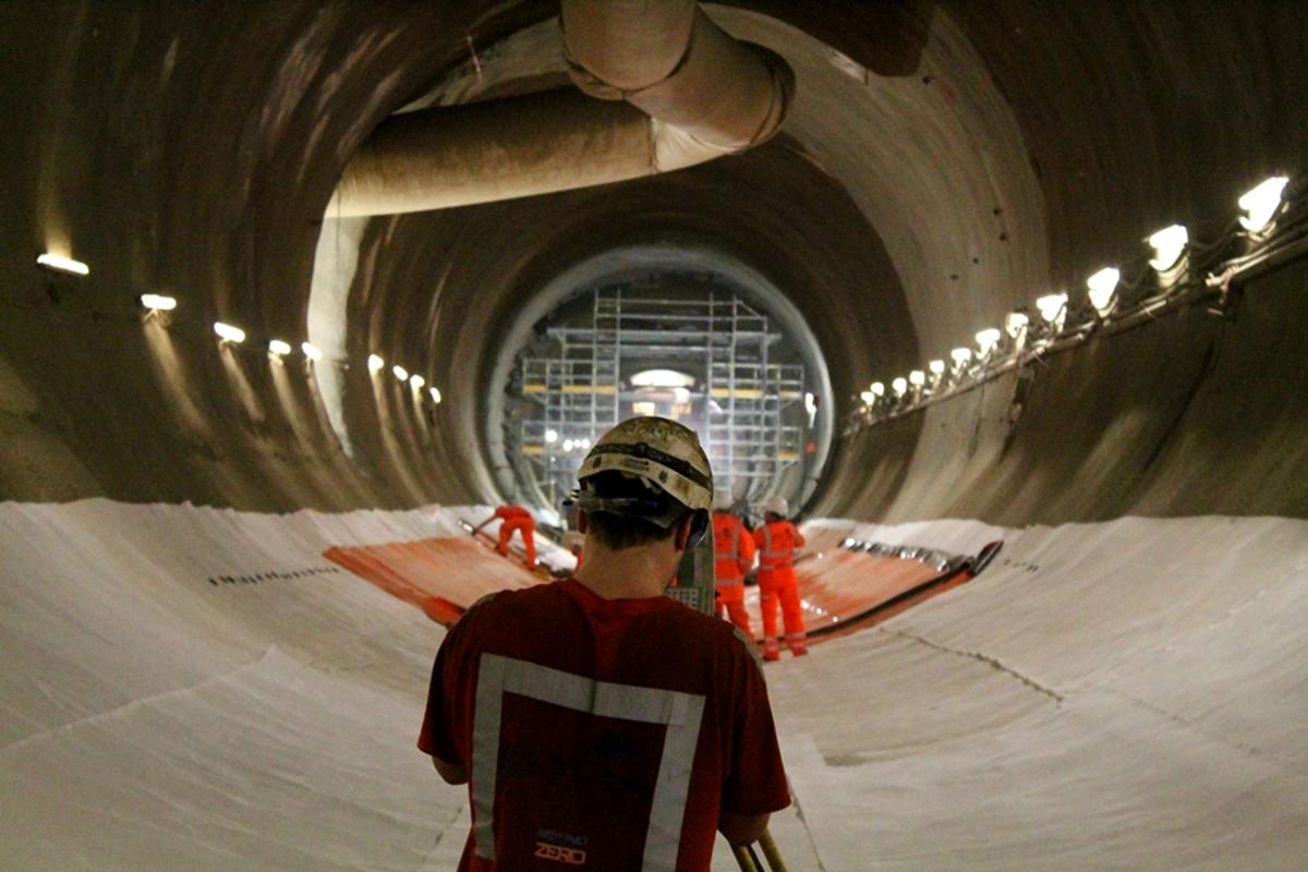 The UK's new Crossrail rail route features 42 km (26 miles) of new tunnels dug below London (Photo: Stu Robarts/Gizmag)