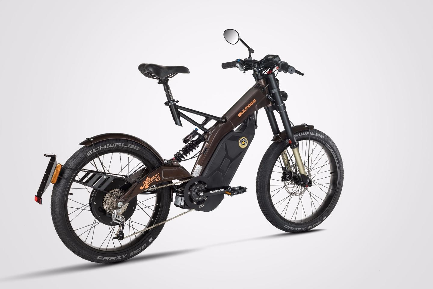 "The Bultaco Albero is built on the same technical platform as the off-road Brinco ""moto bike"""