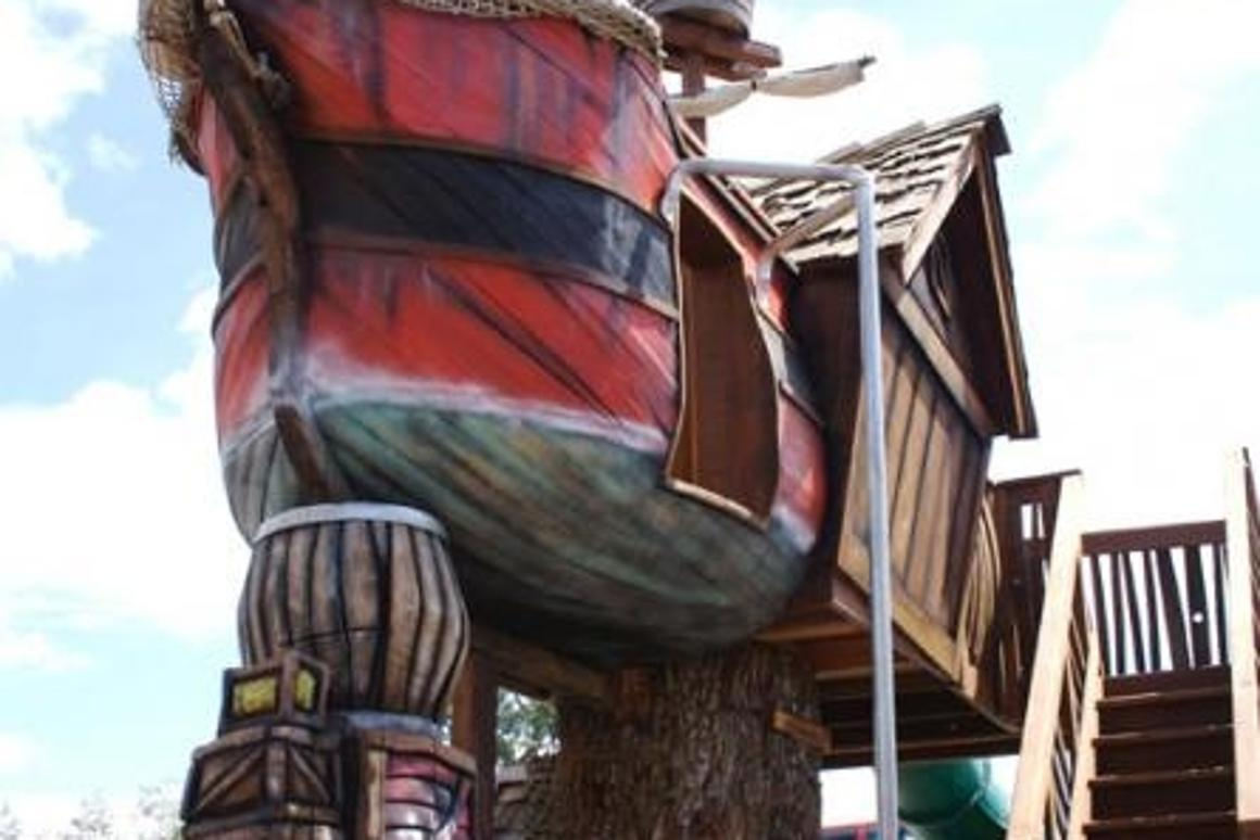 A Daniels Wood Land pre-fab treehouse