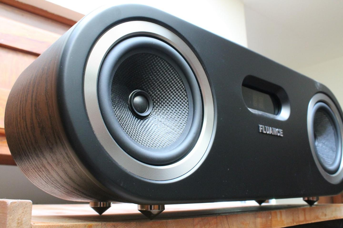 The Fluance is a $200 wireless speaker designed to fill a room with sound and style