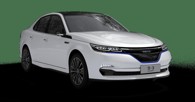 NEVS 9-3 electric sedan concept
