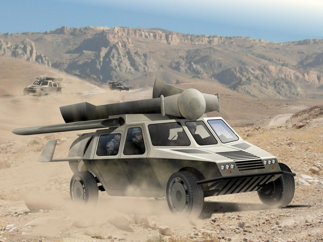 Terrafugia will contribute expertise towards the design of the Transformer - a cross between a Humvee and a helicopter (Image: AAI Corporation)