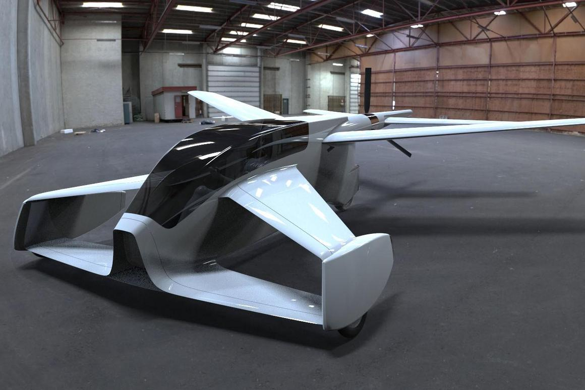 Street Wing concept: wings folded out and ready to fly