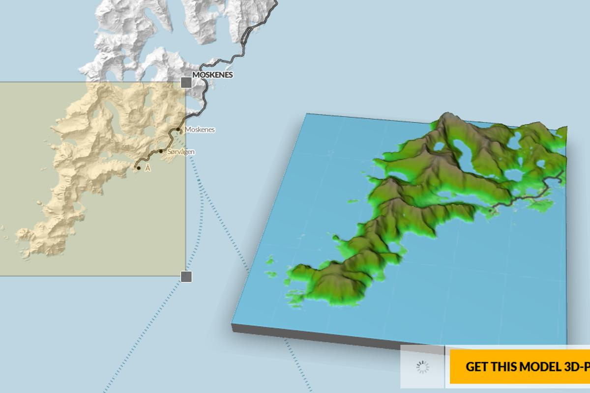 Terrafab generates 3D-printable models from geographical data