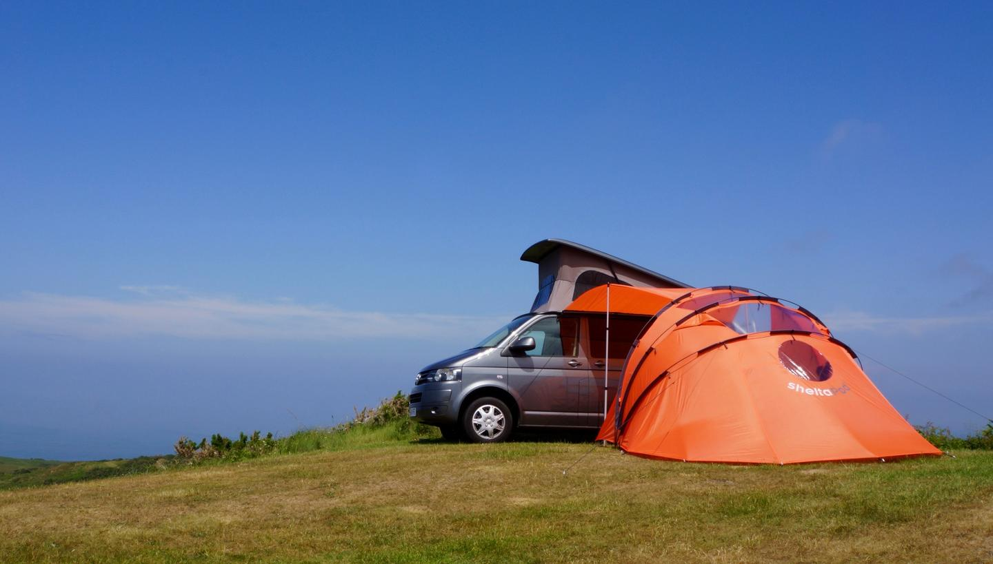 The SheltaPod was designed with camper vans in mind but can also be used for other vehicles