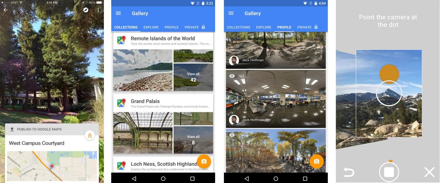The Google Street View app allows users to browse Street View content and collections and to add their own content