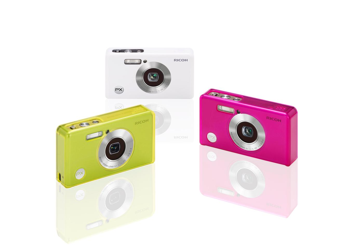 Users can choose from a range of colorful covers to brighten up - and further protect - the PX compact camera