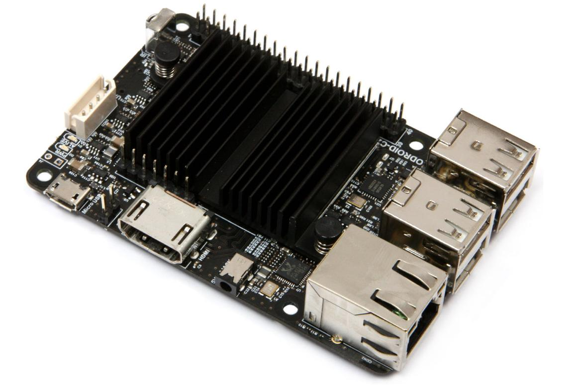 The Odroid C2 single board computer from Hardkernel