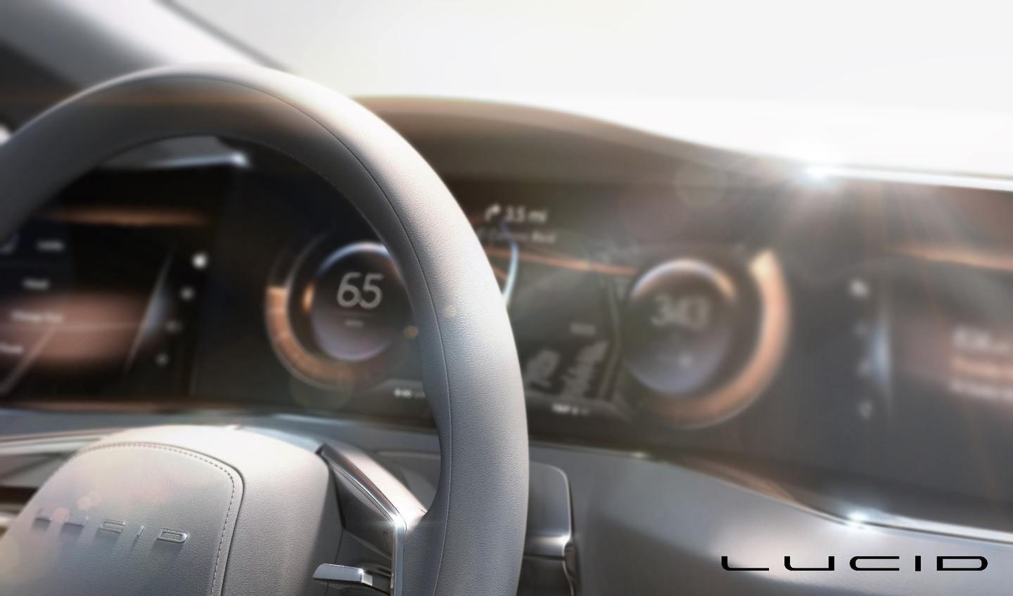 Lucid Motors' upcoming luxury EV: AMOLED screens make up the dash