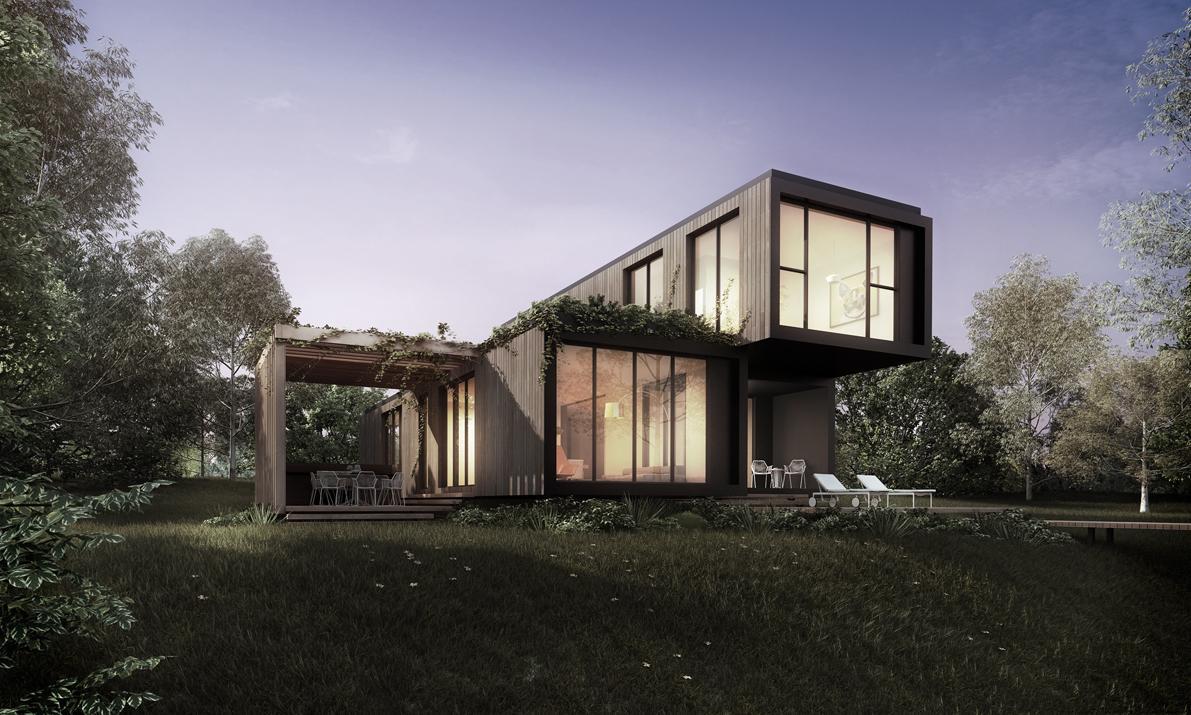 Klik as a modern home (Image: Elenberg Fraser + Unitised Building Australia)