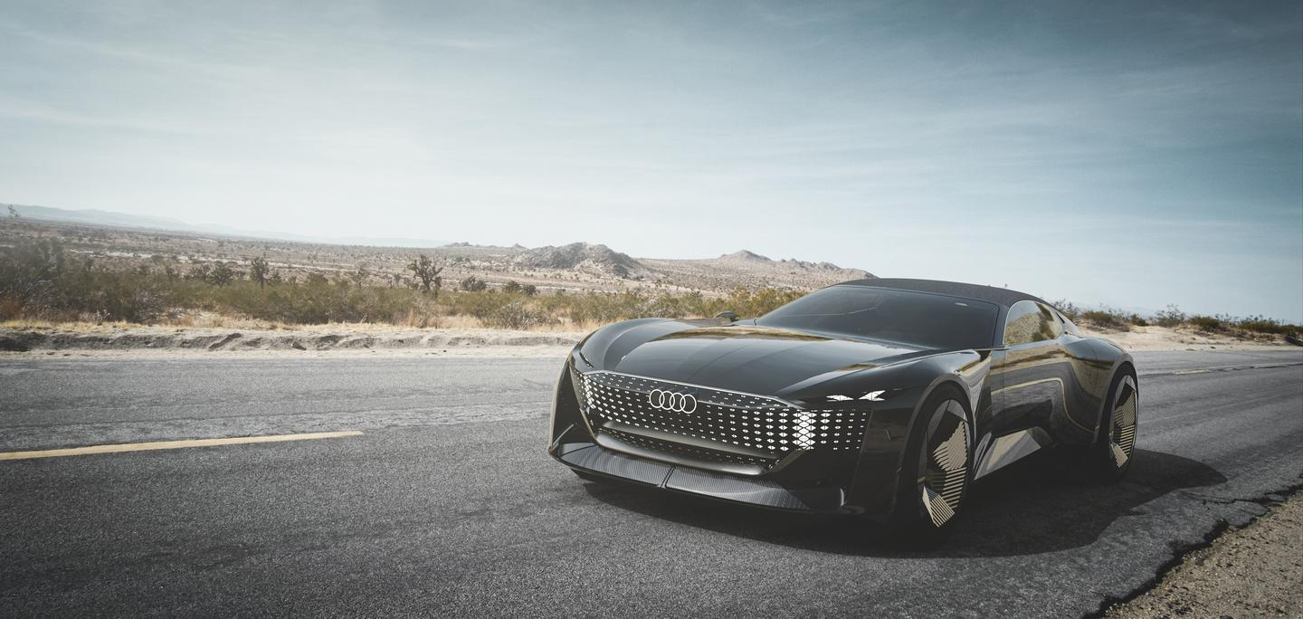 Audi fuses together an autonomous grand tourer and a sporty roadster in the Skysphere concept