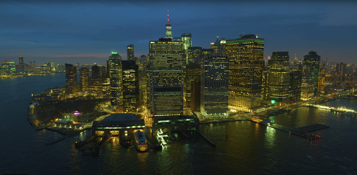 Aerial footage of New York City in 12K by Phil Holland
