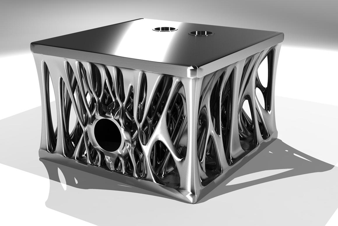 That's a load bearing engine block, optimized using a generative design algoritm