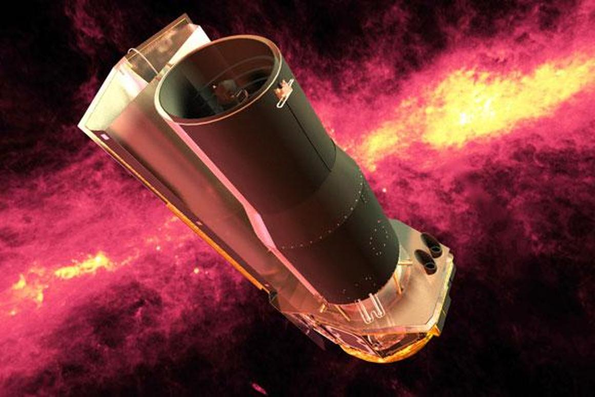 An artist's impression of the Spitzer Space Telescope (Image: NASA)