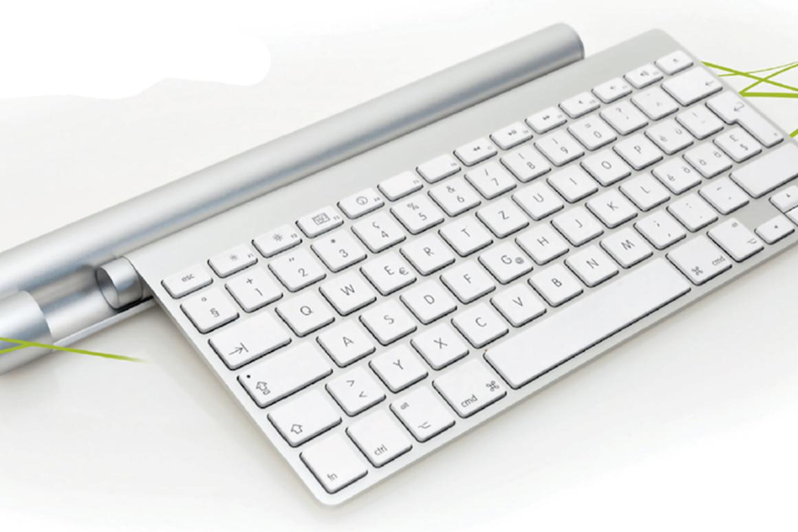 Mobee's Magic Bar wireless charger for Apple's Bluetooth Keyboard and Magic Trackpad