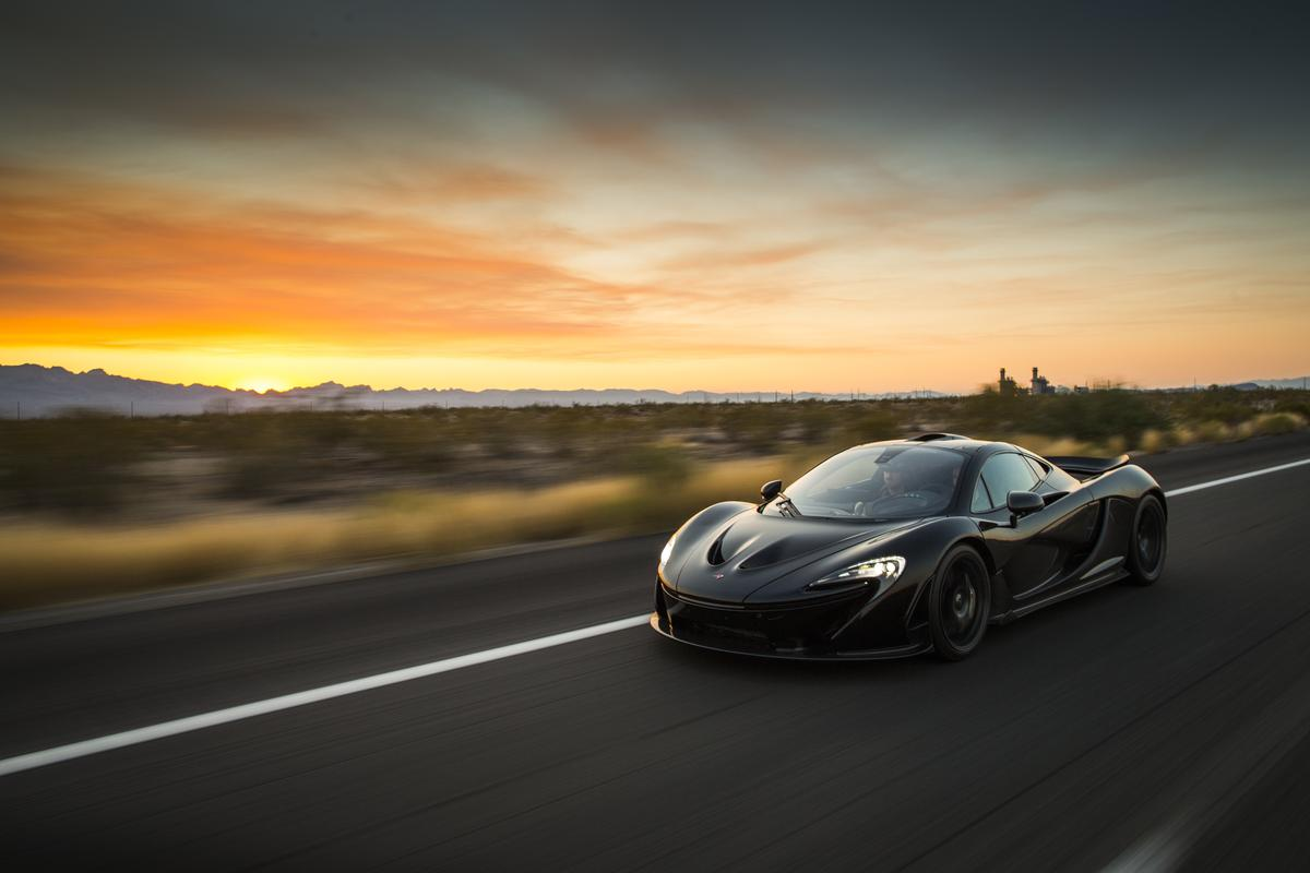 McLaren ran the P1 out in Nevada, California and Arizona as part of its extreme heat testing sessions
