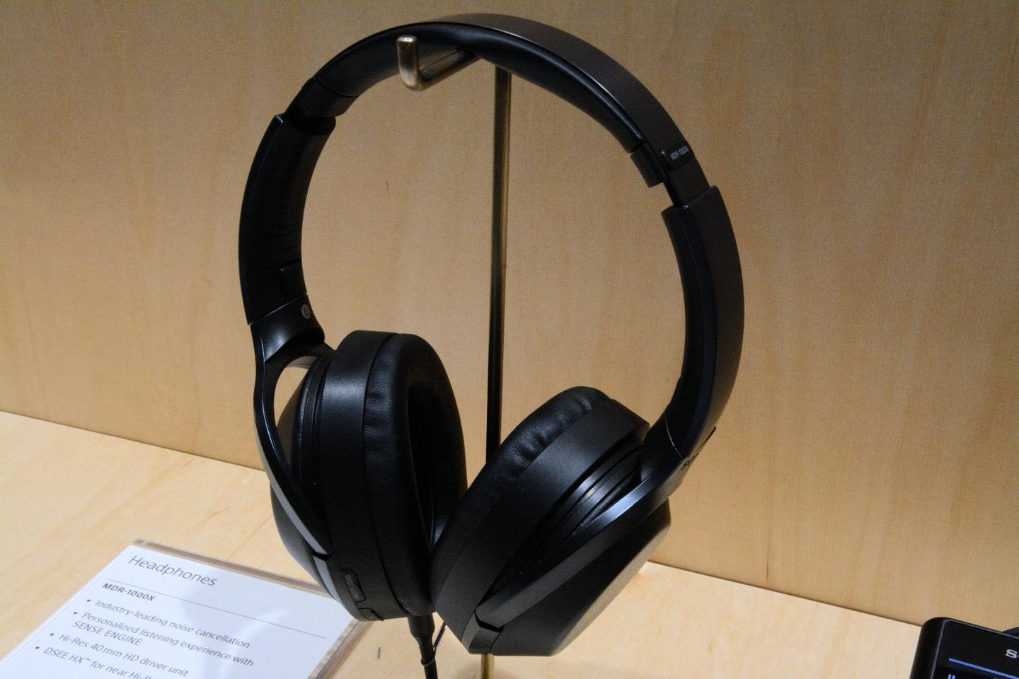 The MDR-1000X headphones feature a Personalized NC Optimzer system, which reportedly takes into account the shape of the wearer's head to provide better sound and noise-cancellation