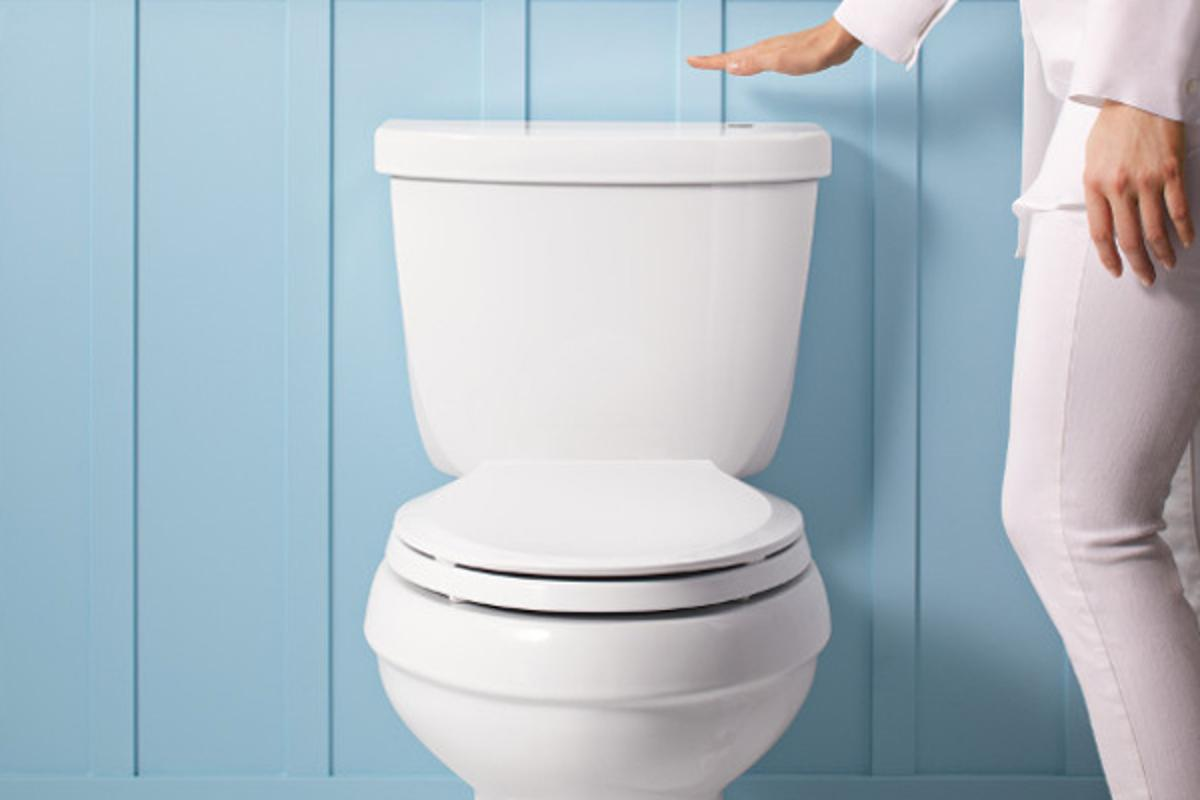 The technology is also built into Kohler's new Cimarron Touchless Toilet
