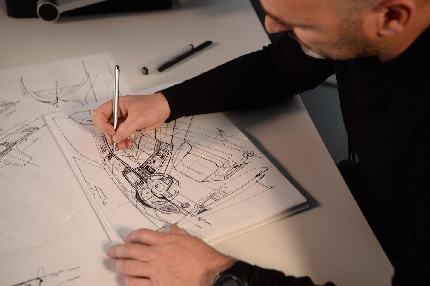 Over 1,000 sketches are created over the course of the design process