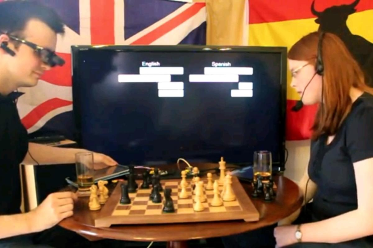 British computer programmer Will Powell has created a prototype real-time translation system that displays subtitles for the interlocutor's speech in a language of choice (Image: Will Powell)