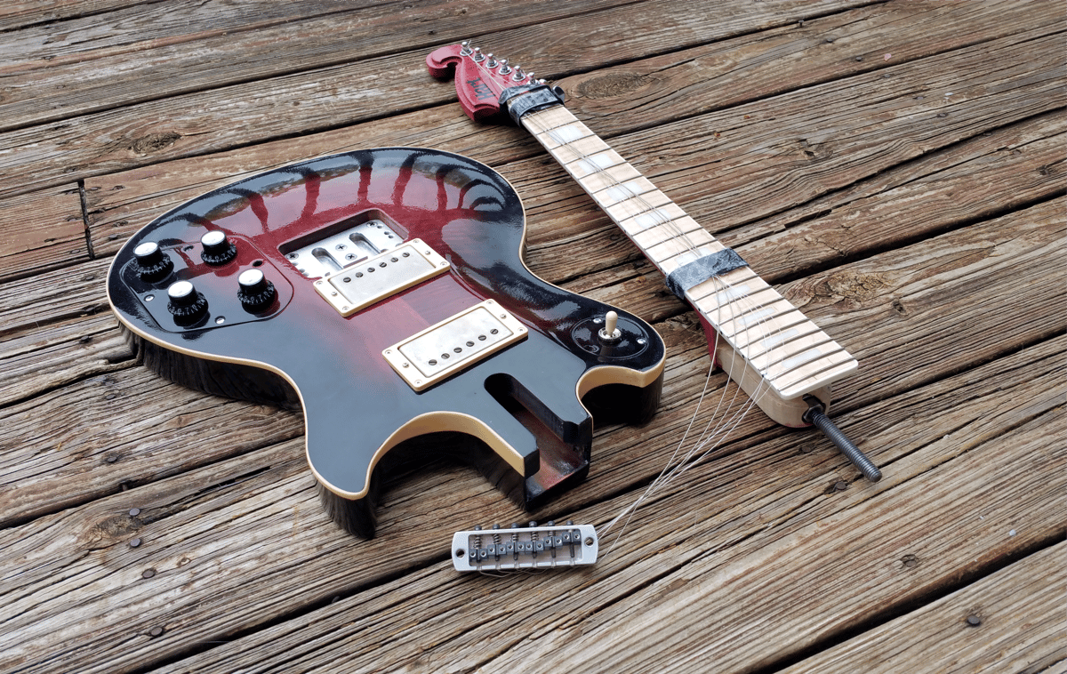 The Genesis from Philip Hart Guitars can be disassembled for travel thanks to a patentedbolt-through neck design