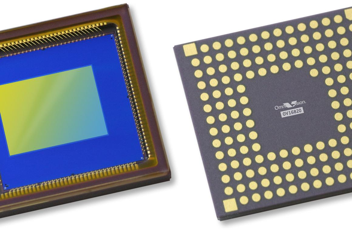 The OmniVision OV16820 16-megapixel CameraChip sensor
