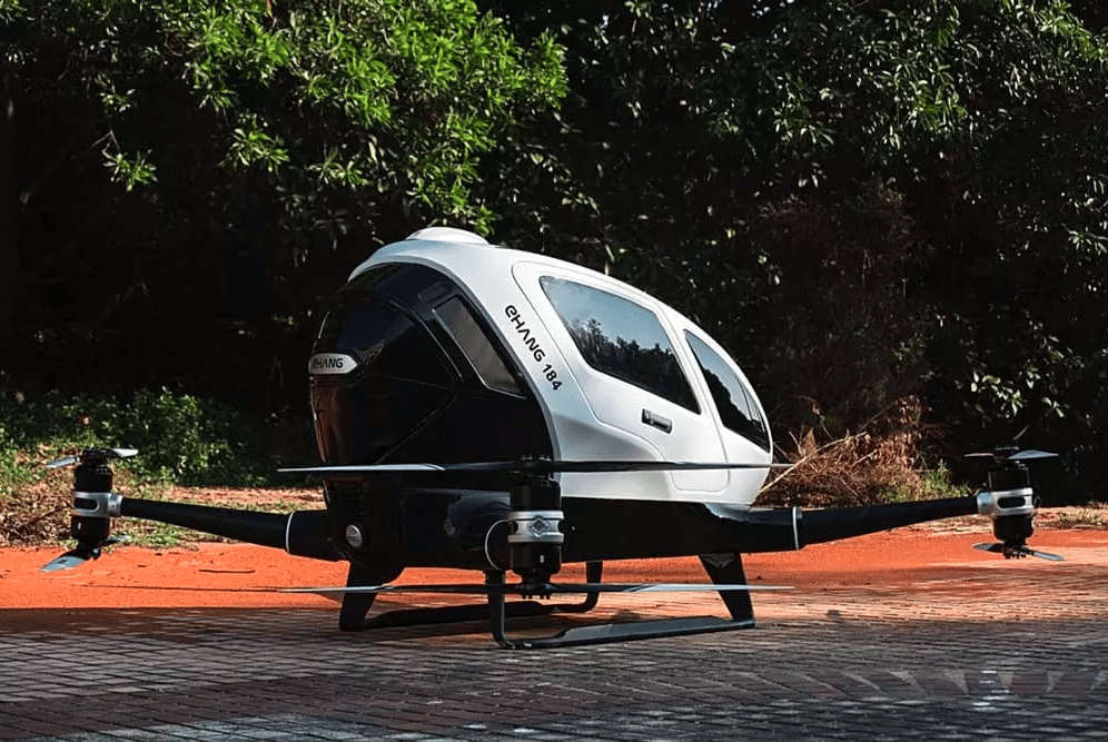 The idea of the autonomous taxi drone is that passengers hop in, enter their destination on a 12-inch touchscreen and simply hit the take-off button