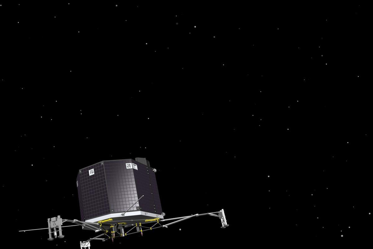 Artist's impression of the ESA's Rosetta spacecraft (Image: ESA–J. Huart, 2013)