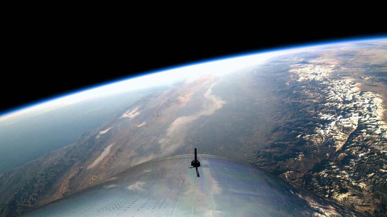 The view from aboard Virgin Galactic's first Spaceflight in December 2018