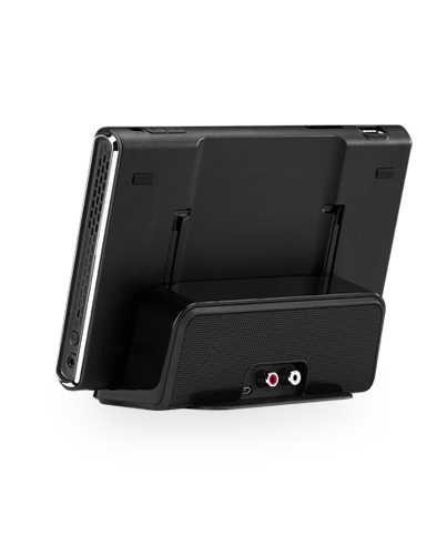 The SmartPad in its optional docking station