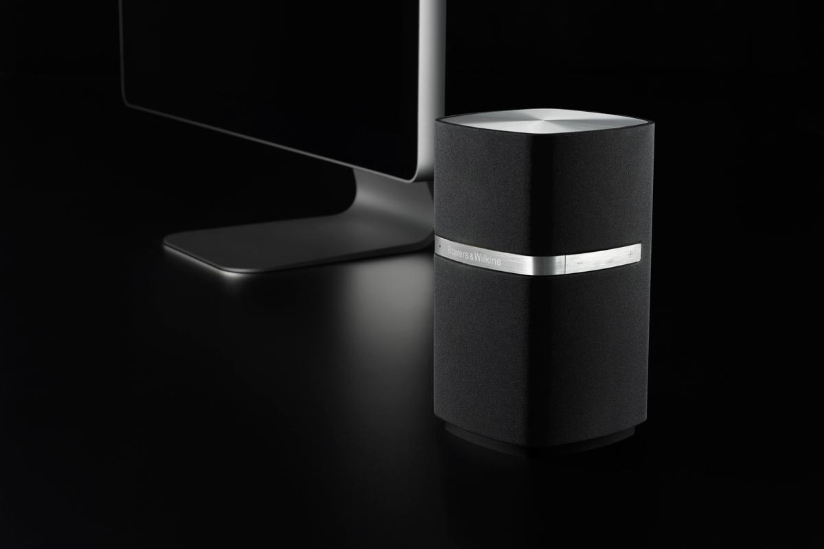 The Bowers and Wilkins MM-1 computer speaker strikes a sexy pose