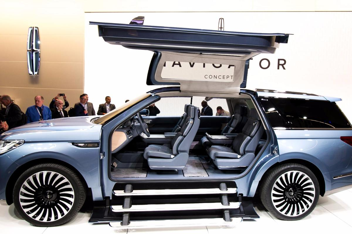 The all-new Lincoln Navigator Concept with its dual gullwing doors debuts in NY