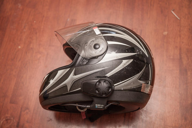 The SMH10, mounted on a Nolan helmet