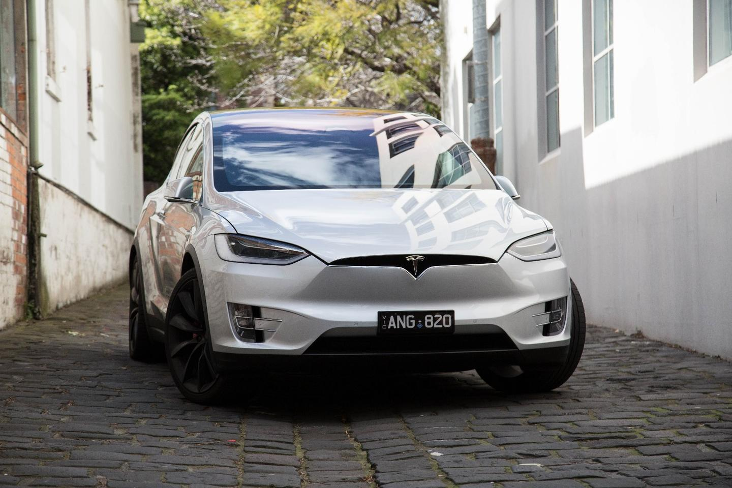 Without an engine to cool, the Model X can do without a front grille