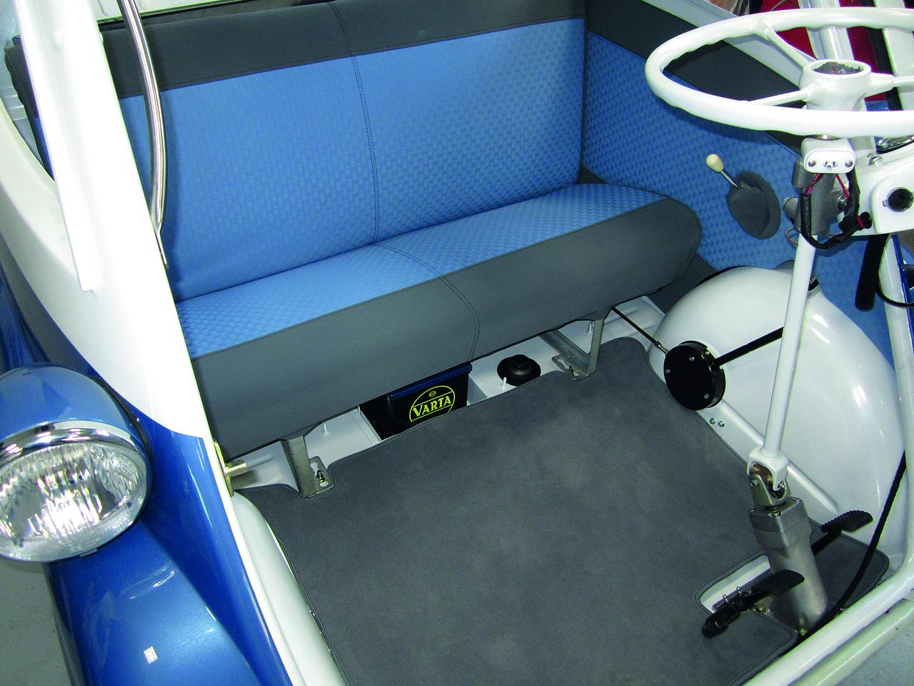 The interior is updated with a soft-touch lining, new seat foam and an A/V system