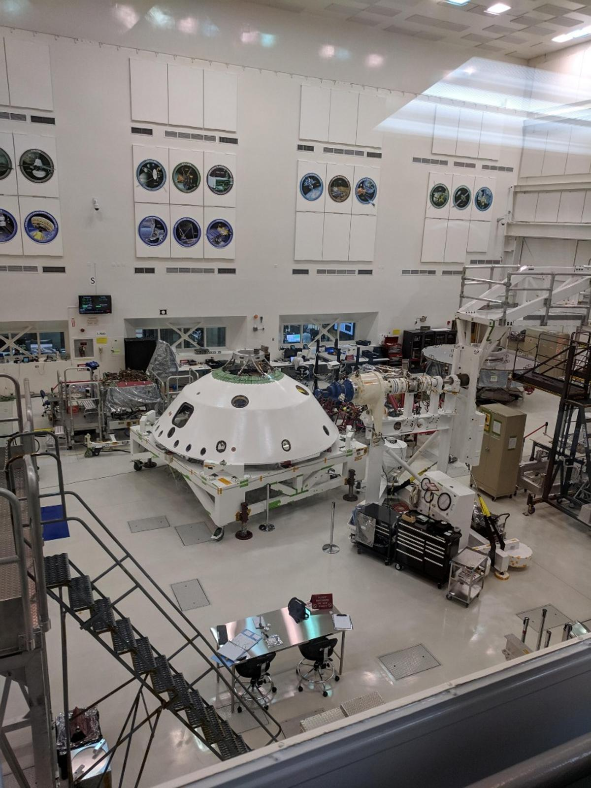 TheMars 2020 lander in the clean room at NASA's Jet Propulsion Laboratory