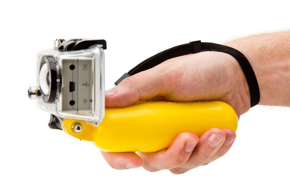 The Bobber is a floating handle for the GoPro HERO, to keep it from sinking if it's dropped in the water