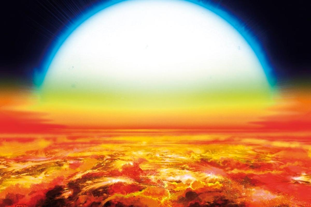 Exoplanet KELT-9b has surface temperatures of up to 4,327° C (7,820° F)