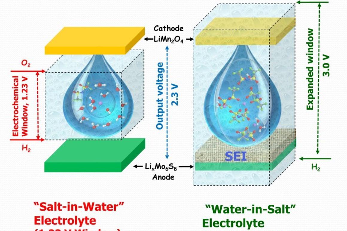 Water-in-salt