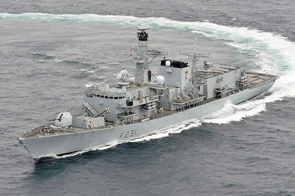 The firing tests were conducted from HMS Argyll