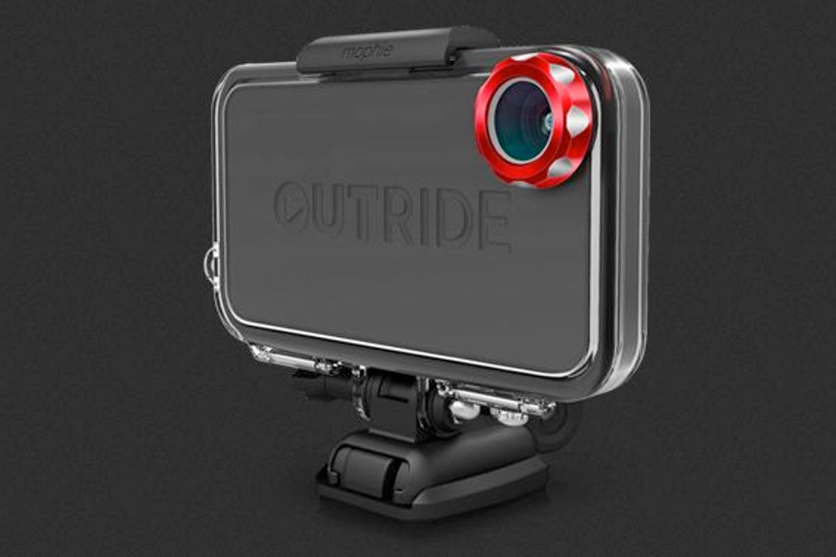 The mophie OUTRIDE case allows the iPhone 4 or 4S to be used as an actioncam