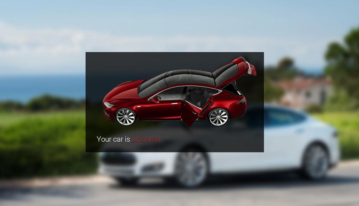 The GlassTesla app allows users to remotely secure their Model S using Google Glass